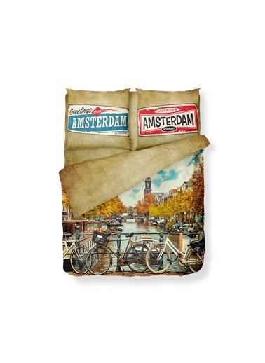 Helen George Amsterdam Çift Kişilik Nevresim Takimi Kahve